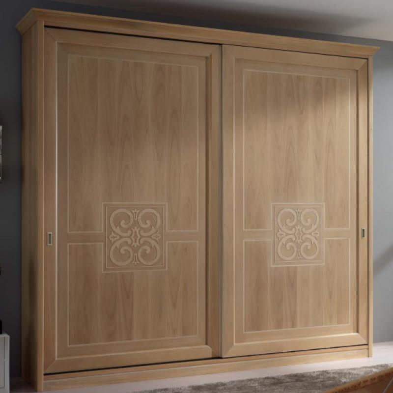 Шкаф- купе с 2-мя деревянными дверьми