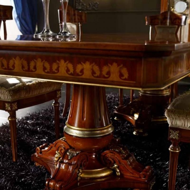 Обеденный стол с 2 вставками Agostini